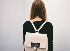 White Vintage Back Pack For Girl
