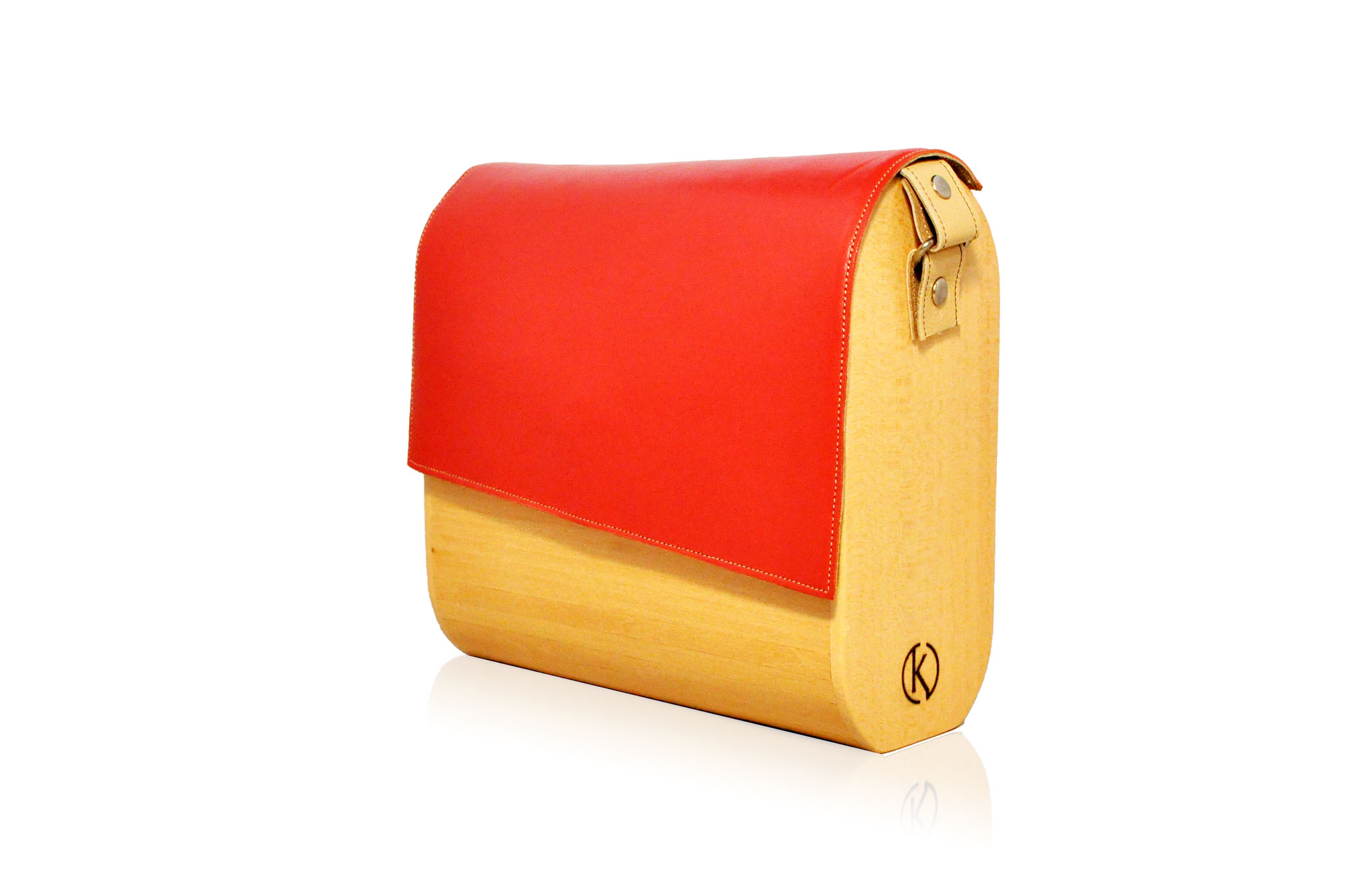Linden & Dark Coral – TK Wooden Exclusive Luxury Bags